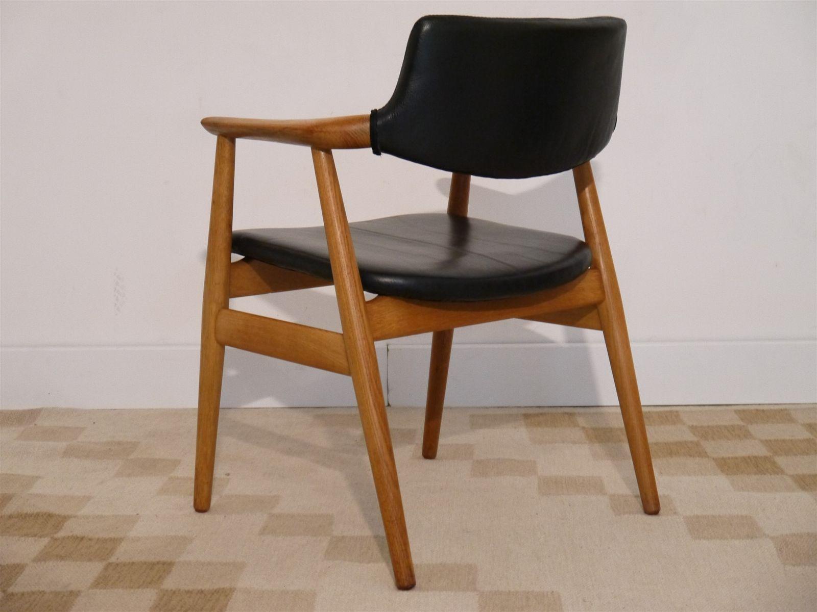 Vintage Danish Office Chair By Erik Kirkegaard For
