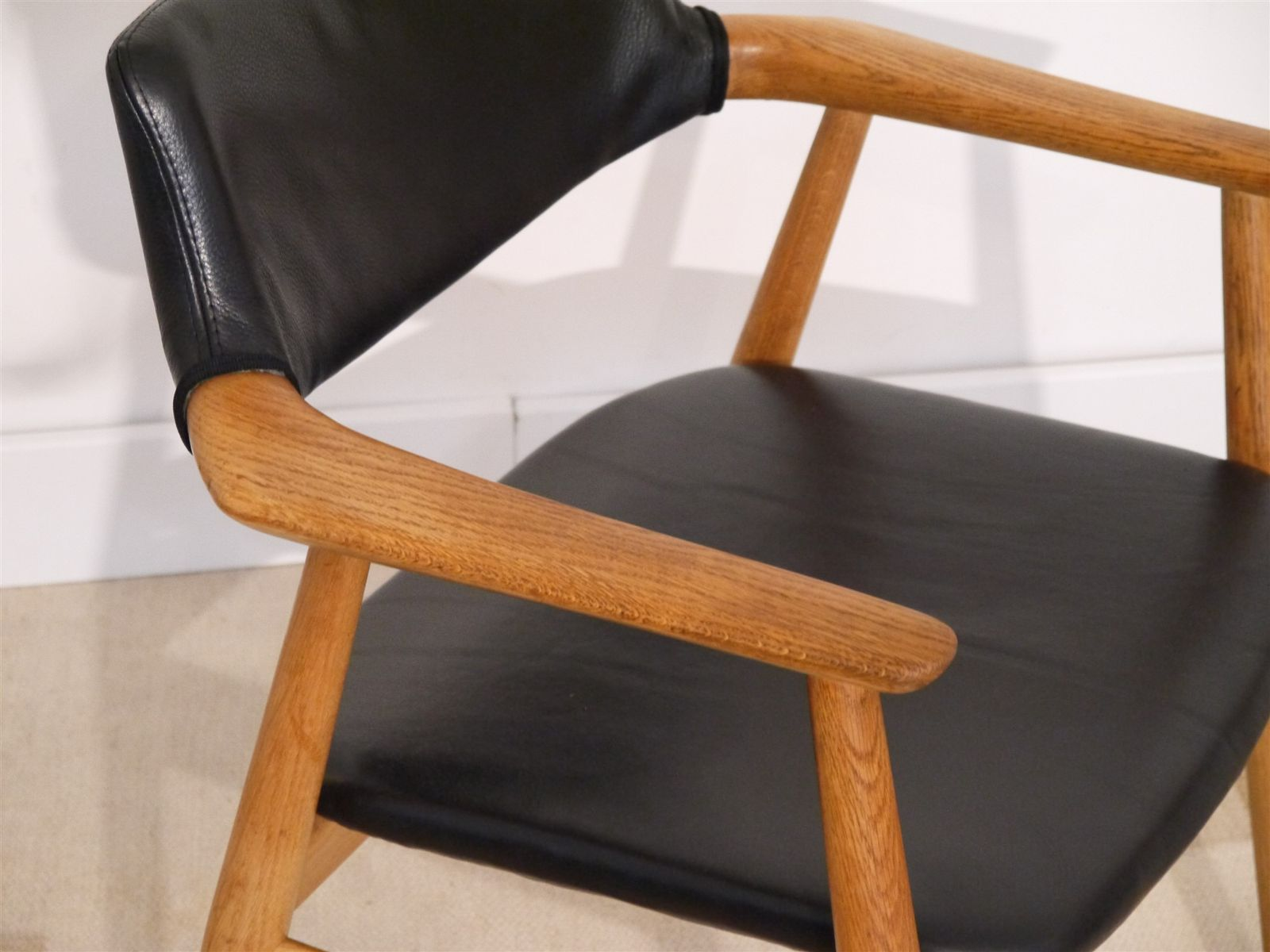 Vintage Danish fice Chair by Erik Kirkegaard for Glostrup for