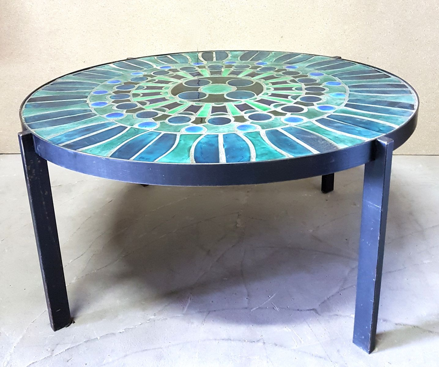 Vintage Glass Mosaic Coffee Table