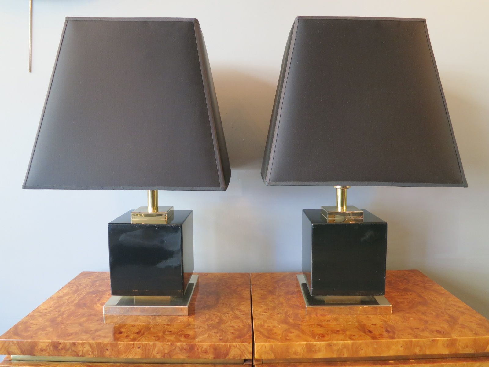 lampade da tavolo grandi vintage laccate di jean claude