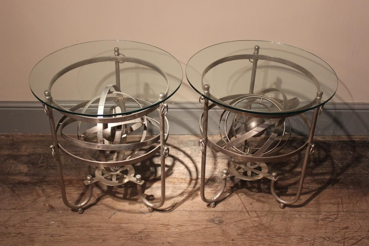Vintage italian armillary sphere tables set of 2 for sale at pamono previous arubaitofo Choice Image