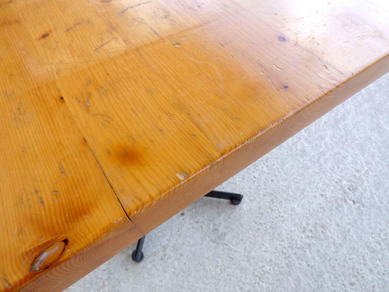 quadratischer vintage tisch von charlotte periand bei pamono kaufen. Black Bedroom Furniture Sets. Home Design Ideas