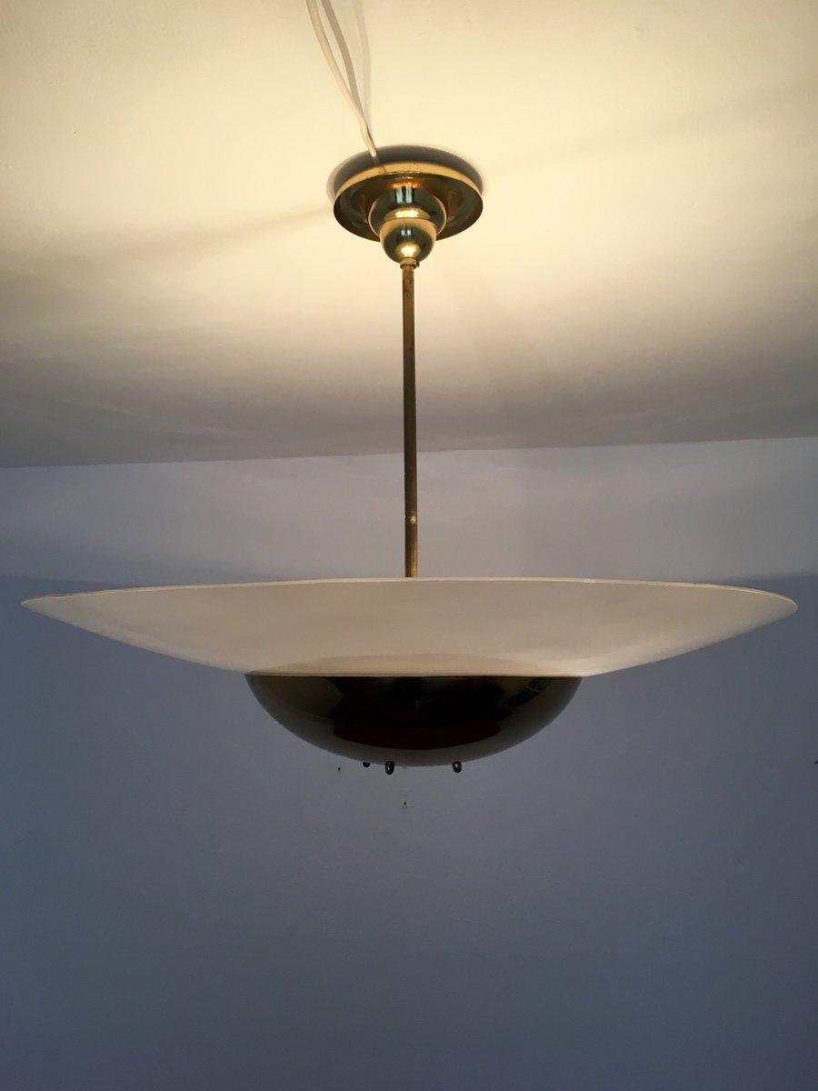gro e art deco messing lampe 1930er bei pamono kaufen. Black Bedroom Furniture Sets. Home Design Ideas