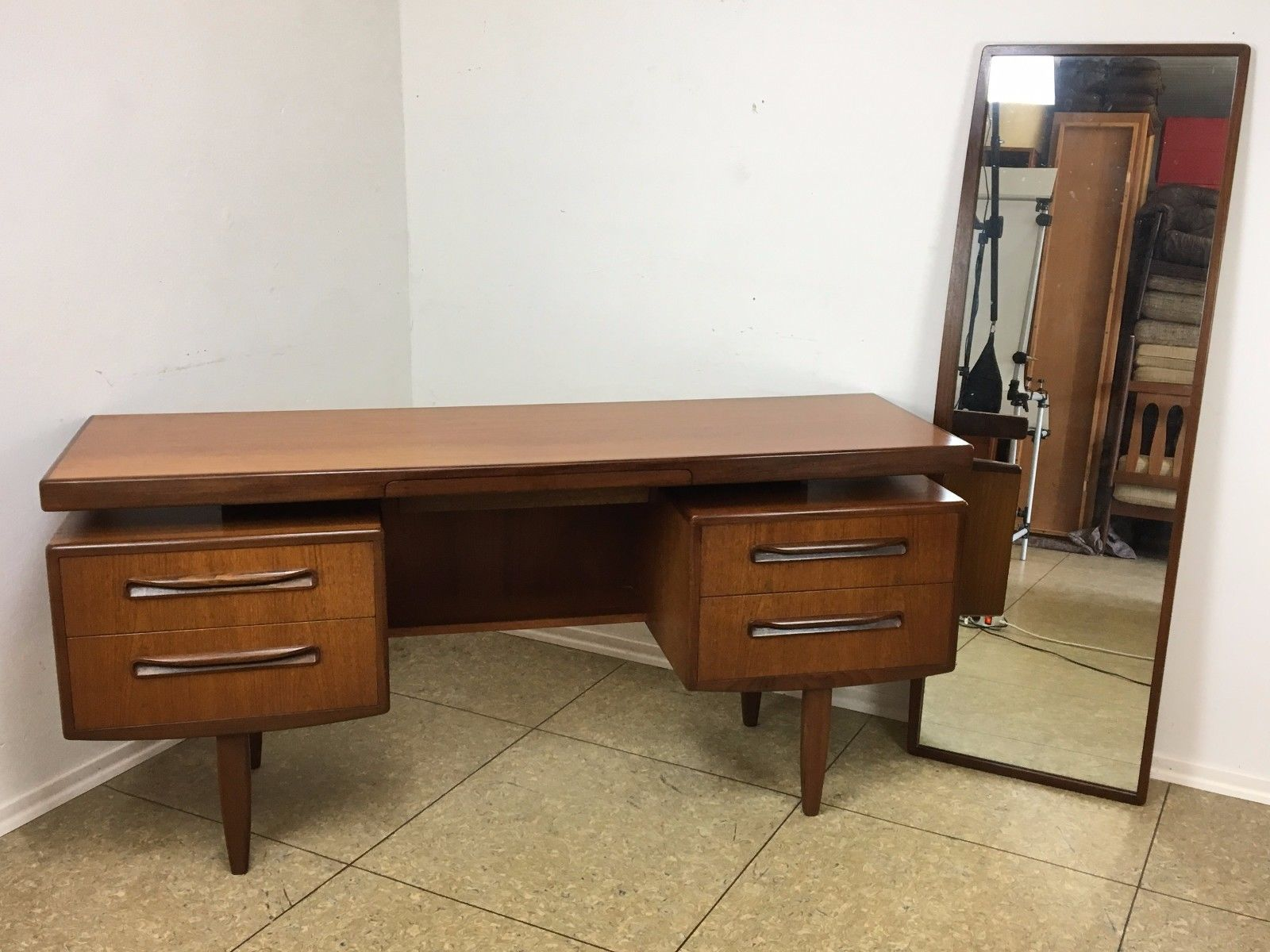 Teak Dressing Table With Mirror By Victor Wilkins For G Plan, 1970s