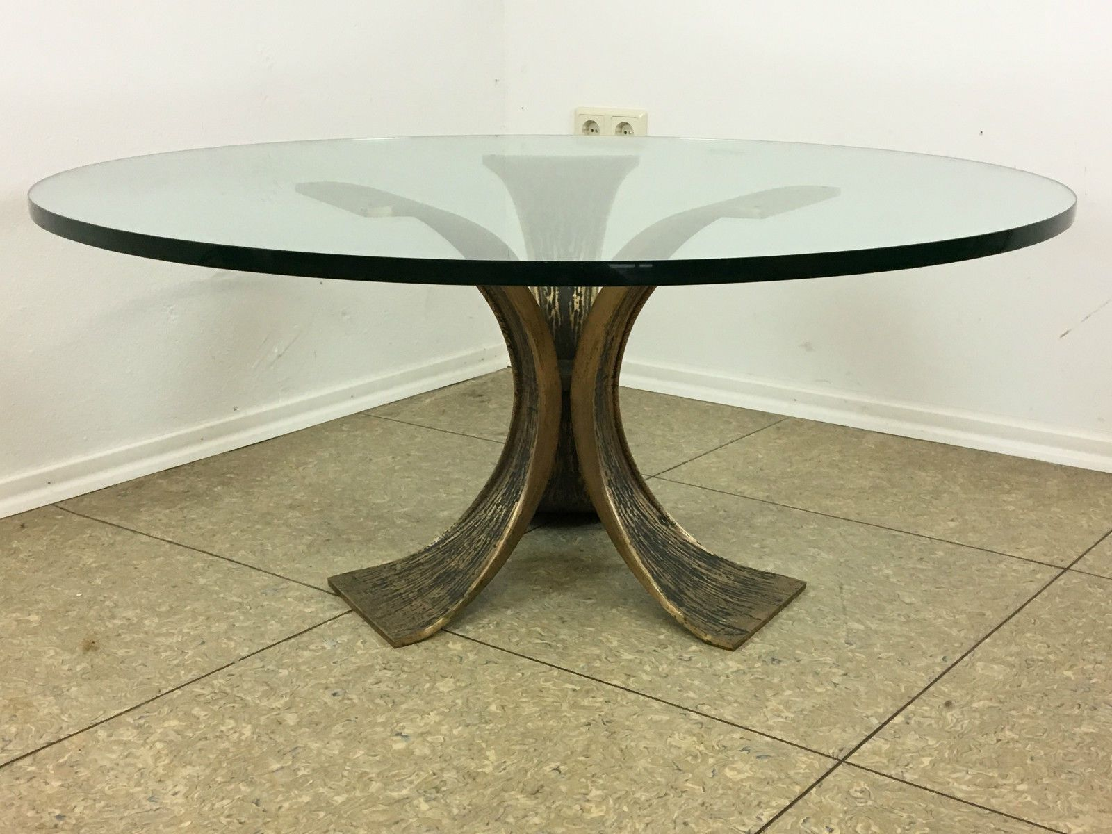 Brutalist bronze coffee table 1960s for sale at pamono geotapseo Image collections