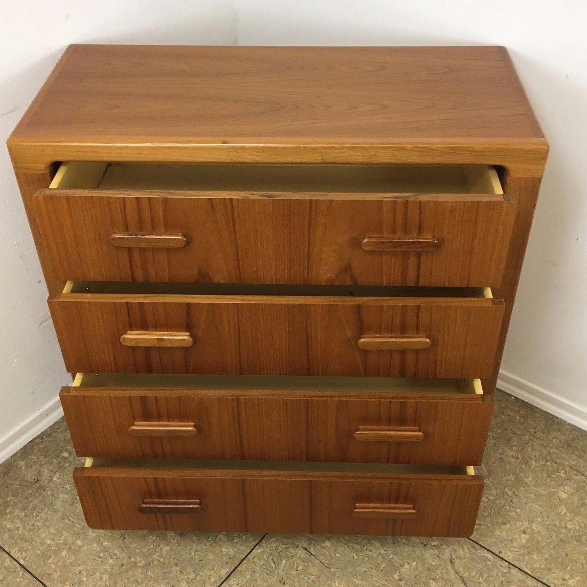 Danish Teak Dresser Amp Mirror 1970s For Sale At Pamono