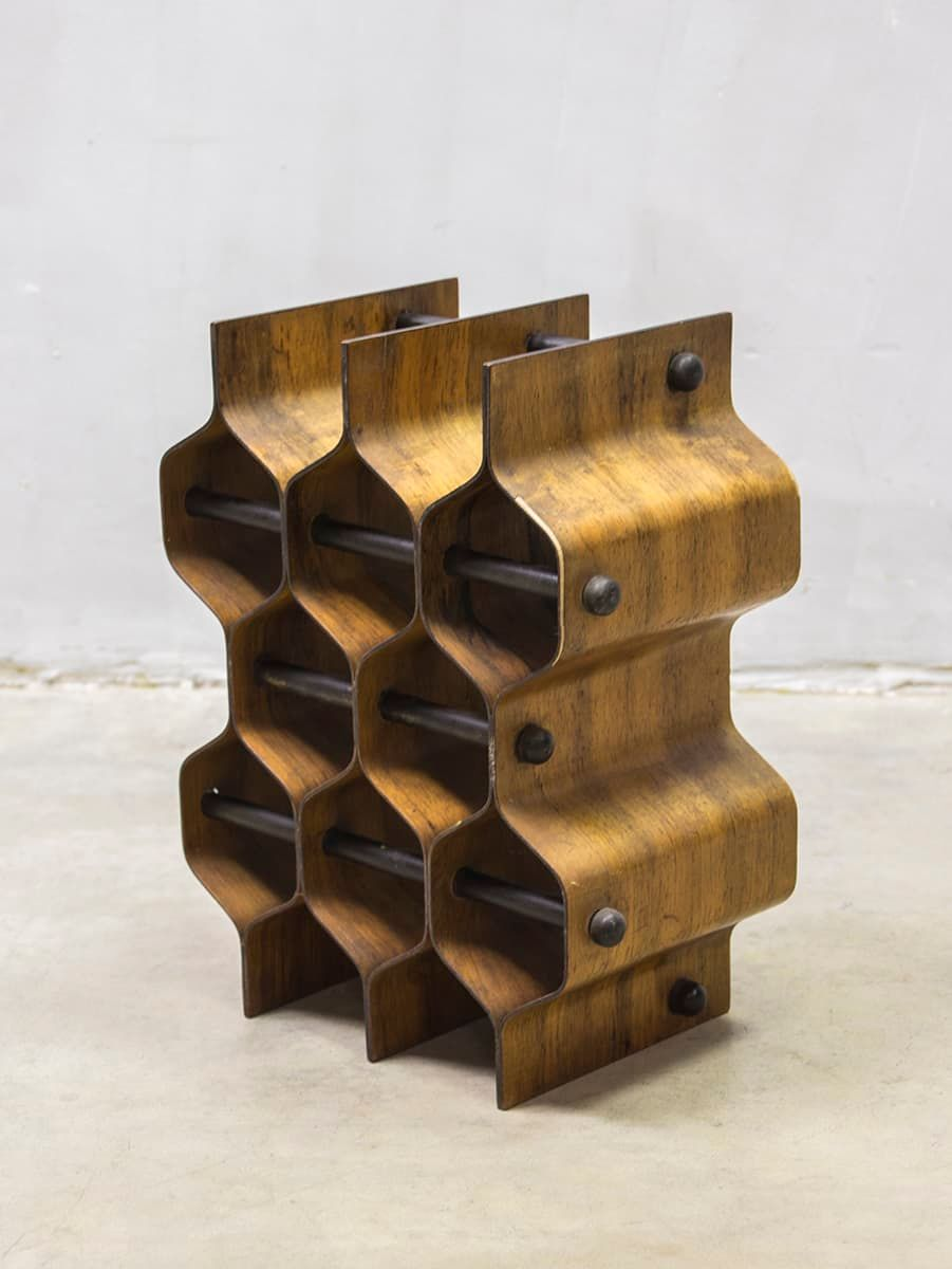 mid century modern wine rack by torsten johansson for ab. Black Bedroom Furniture Sets. Home Design Ideas