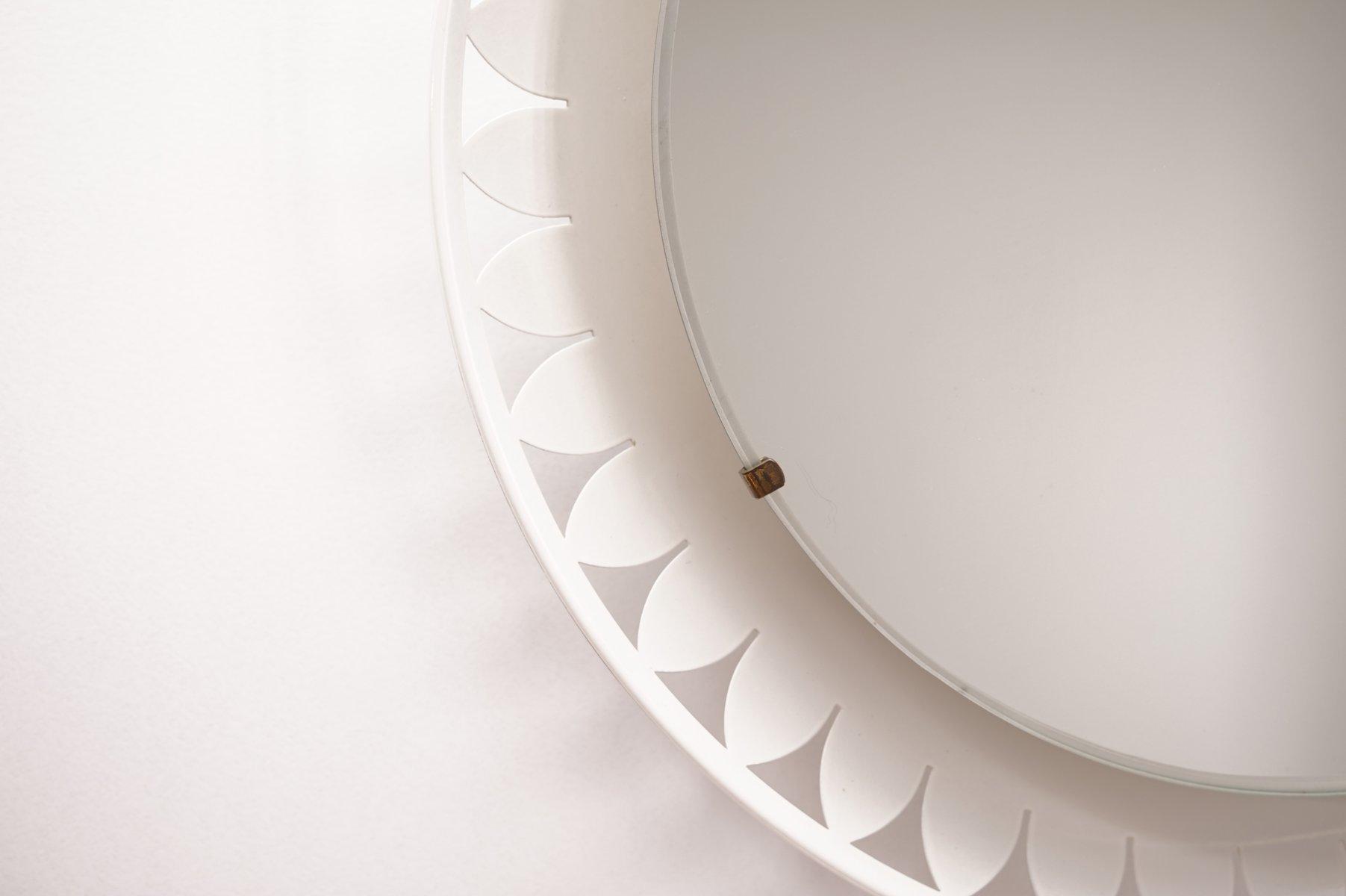 beleuchteter spiegel von ernest igl f r hillebrand 1950er. Black Bedroom Furniture Sets. Home Design Ideas
