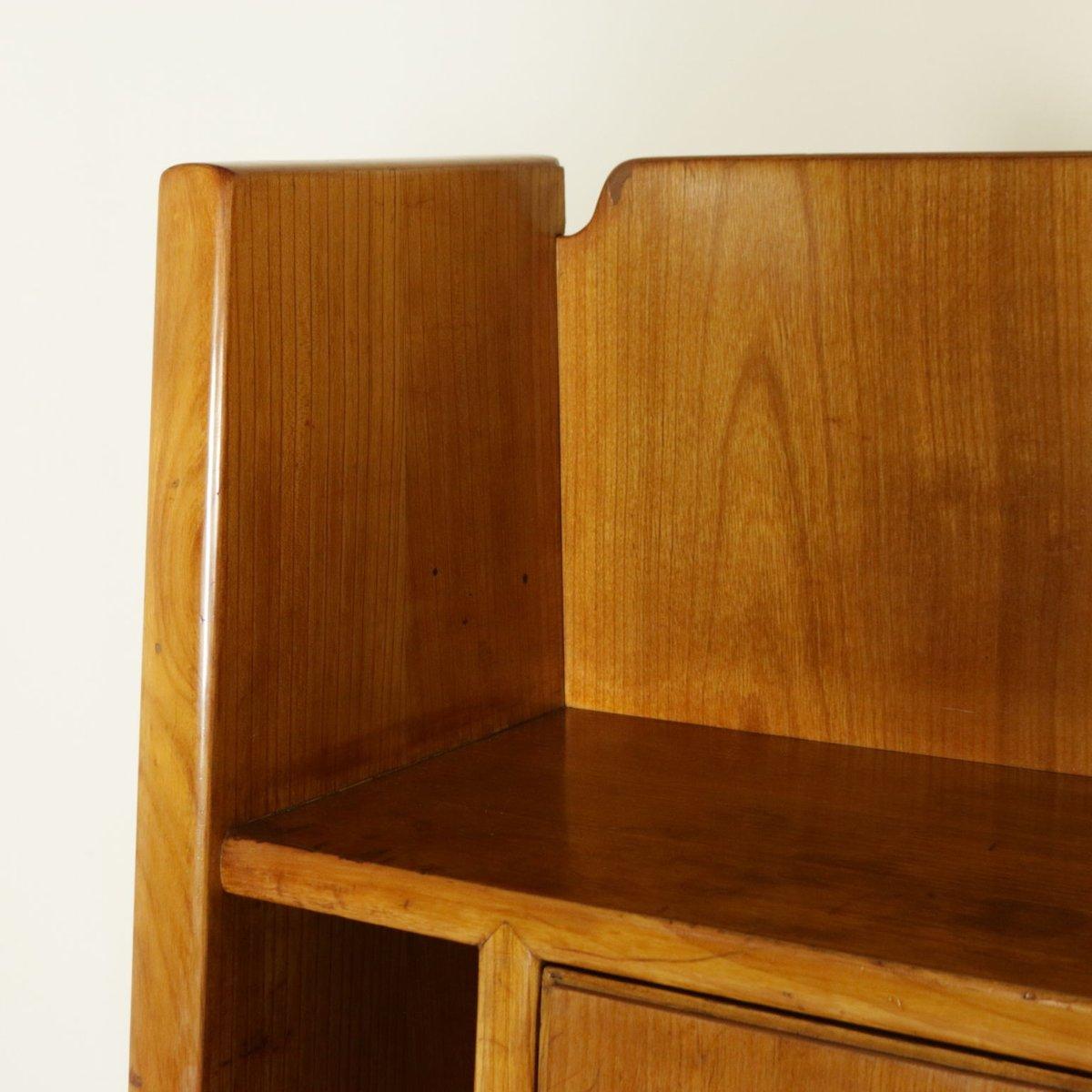vintage italian maple veneer and brass secretaire by. Black Bedroom Furniture Sets. Home Design Ideas