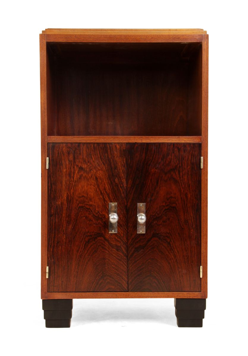 art deco palisander schrank 1930er bei pamono kaufen. Black Bedroom Furniture Sets. Home Design Ideas