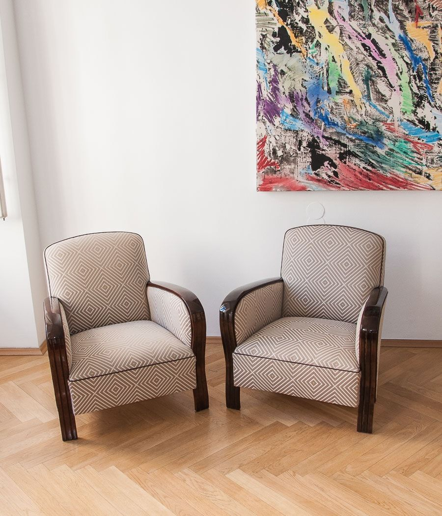 1930s Armchairs For Sale Adjustable Art Deco Armchairs