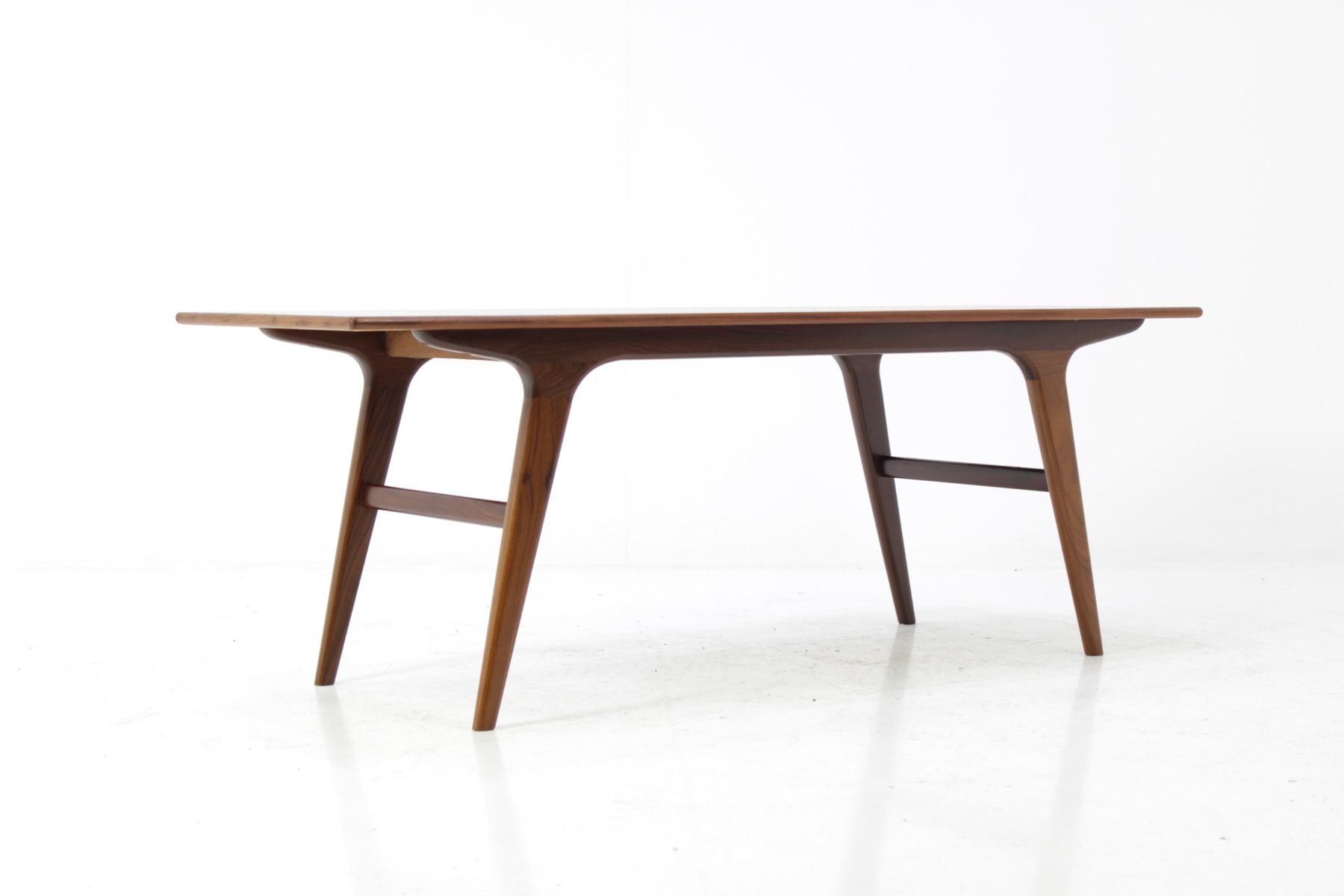Scandinavian Mid Century Teak Coffee Table for sale at Pamono