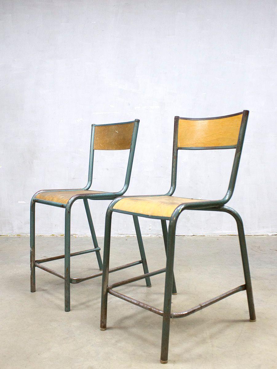 franz sische industrielle vintage barhocker 2er set bei. Black Bedroom Furniture Sets. Home Design Ideas