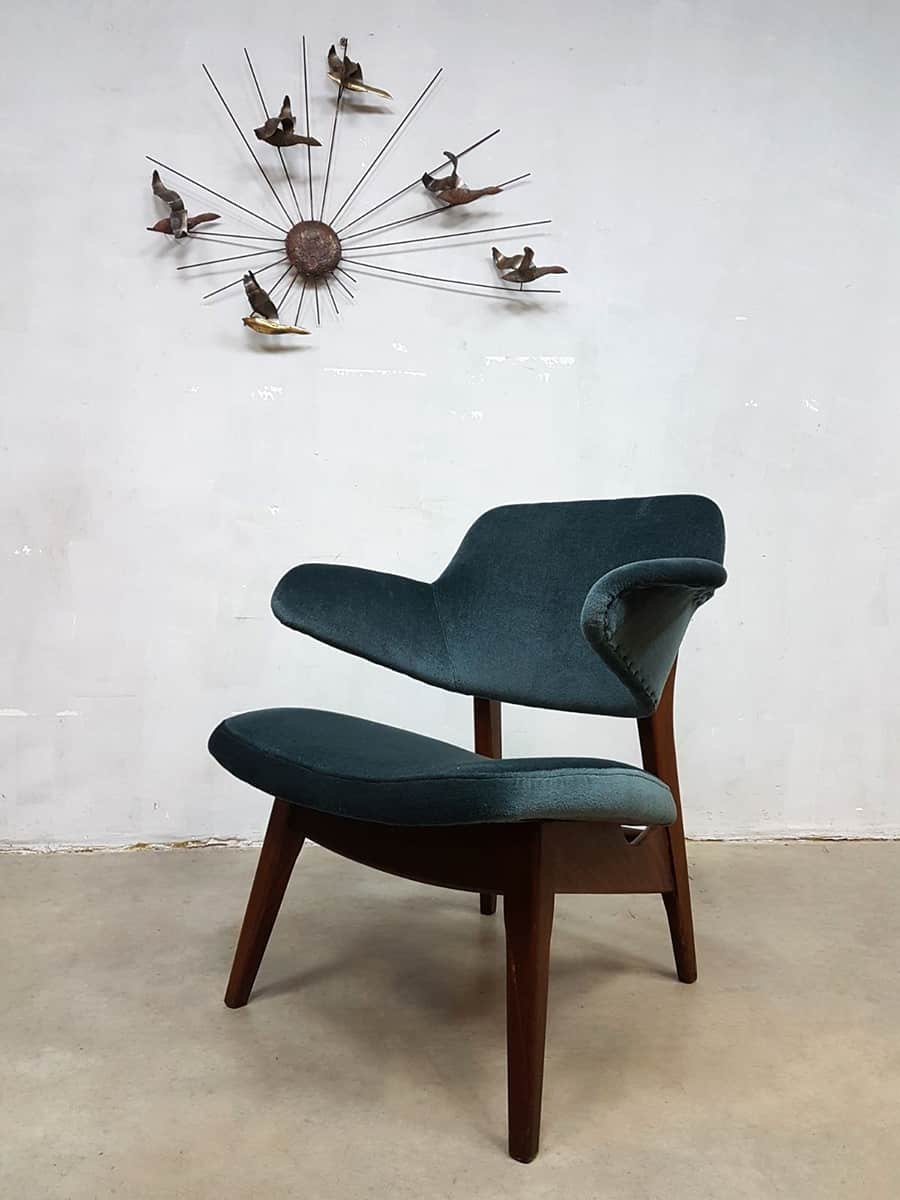 Lounge chair in velvet by louis van teeffelen for w b 1960s for sale at pamono - Fauteuil vintage occasion ...