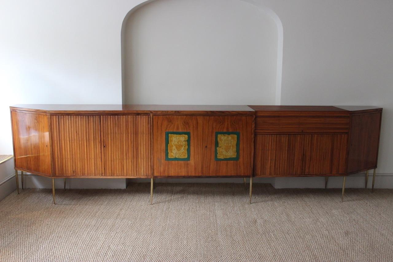 Meuble d 39 appoint en palissandre par osvaldo borsani 1970s for Meuble 1970