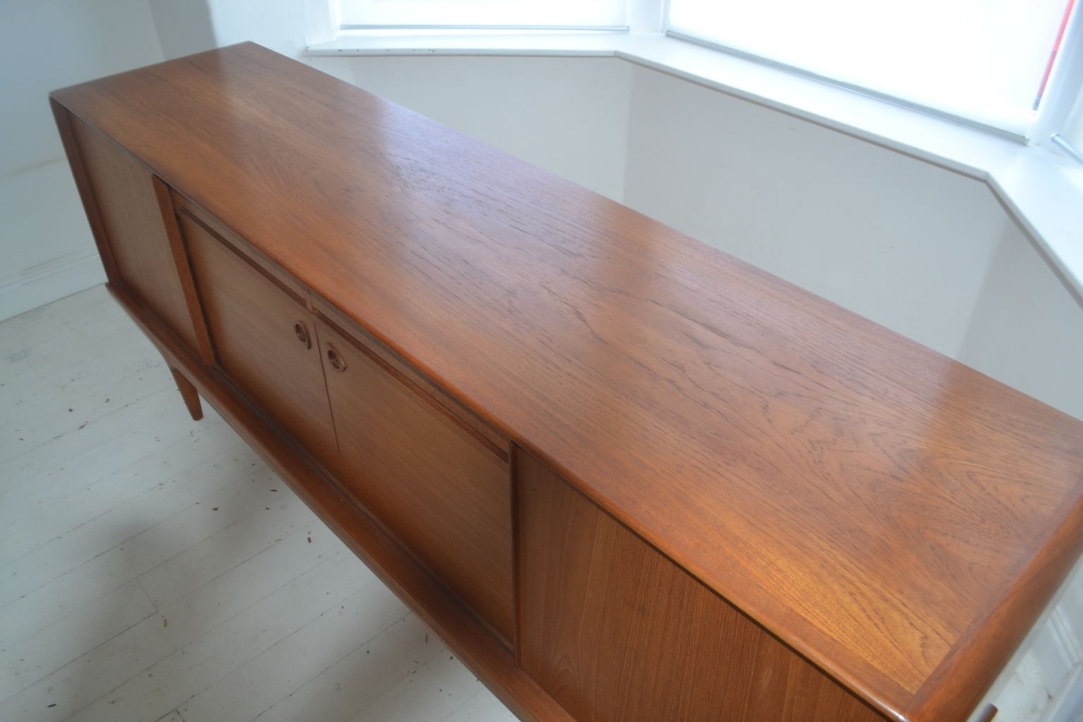vintage danish teak sideboard from clausen son for sale. Black Bedroom Furniture Sets. Home Design Ideas