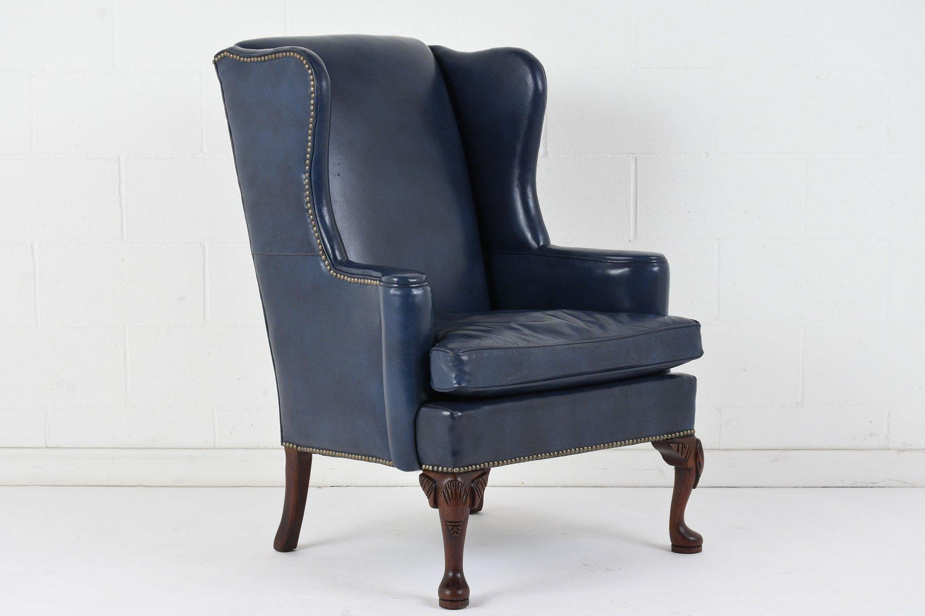 ohrensessel aus leder 1970er bei pamono kaufen. Black Bedroom Furniture Sets. Home Design Ideas