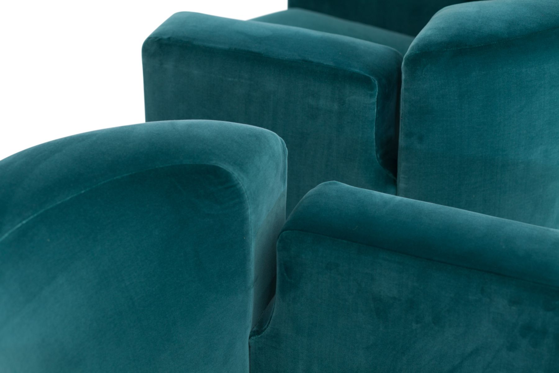 fauteuils pivotants en velours bleu par milo baughman. Black Bedroom Furniture Sets. Home Design Ideas