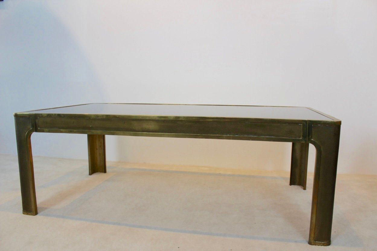Brass Glass Coffee Table 1970s For Sale At Pamono