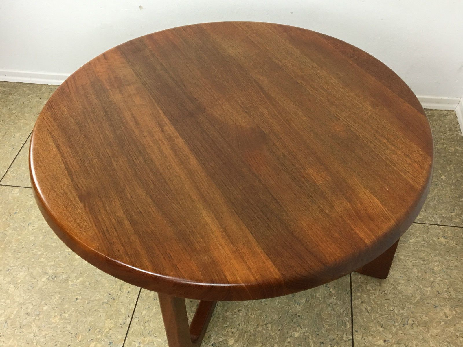 Round Teak Coffee Table By Niels Bach 1970s For Sale At Pamono