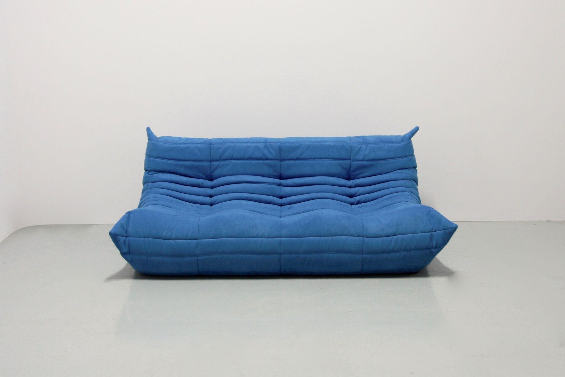 vintage turquoise togo set by michel ducaroy for ligne roset for sale at pamono. Black Bedroom Furniture Sets. Home Design Ideas
