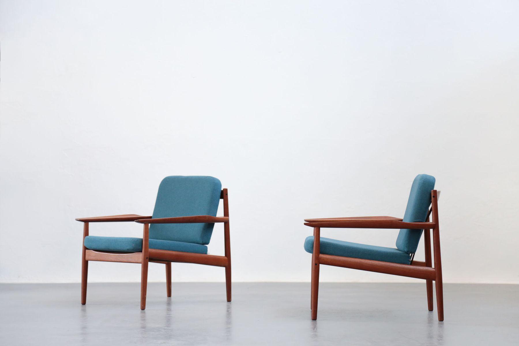 Vintage Danish Armchairs by Arne Vodder for Glostrup Set of 2 for