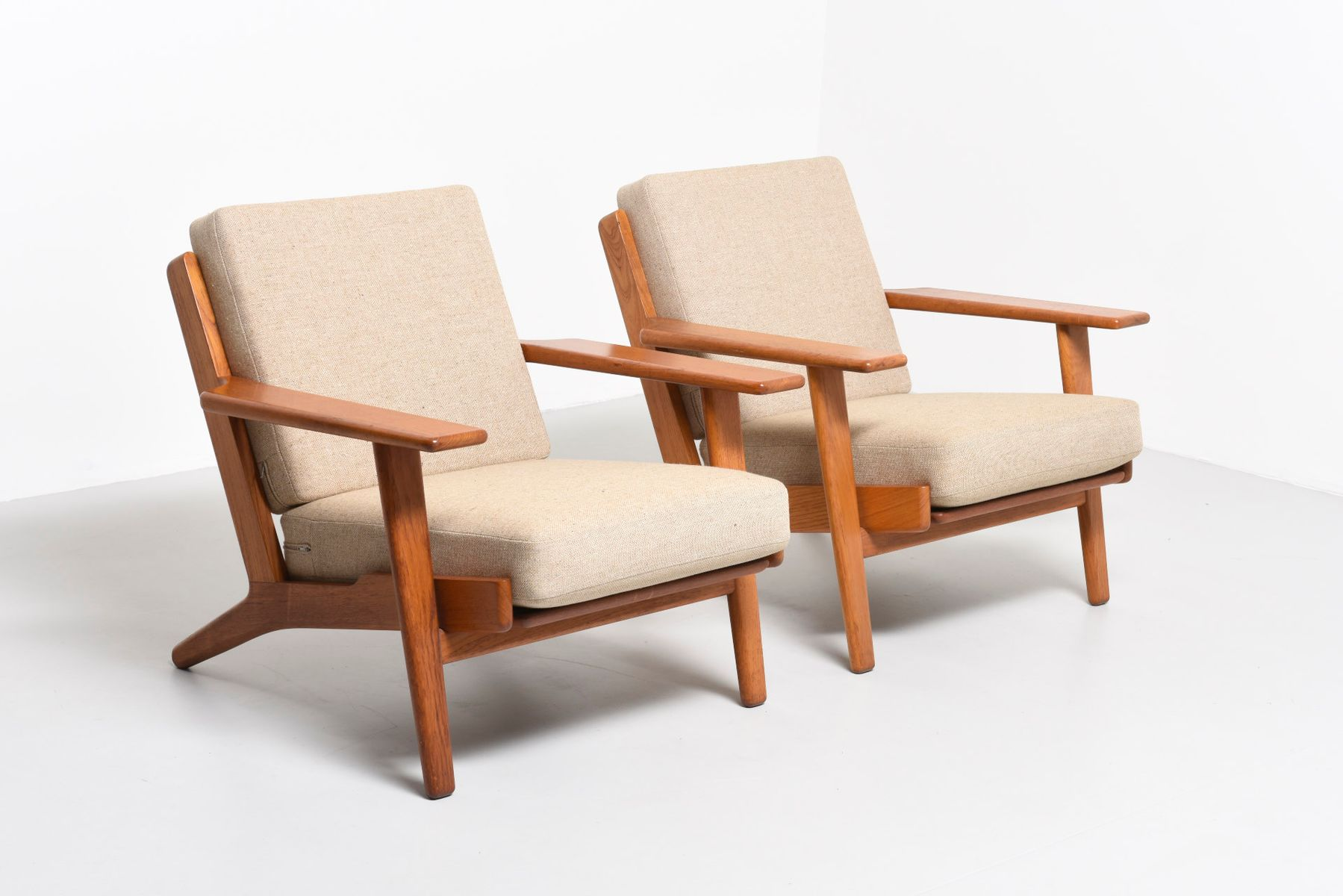 Mid Century GE290 Easy Chairs by Hans J Wegner for Getama Set of