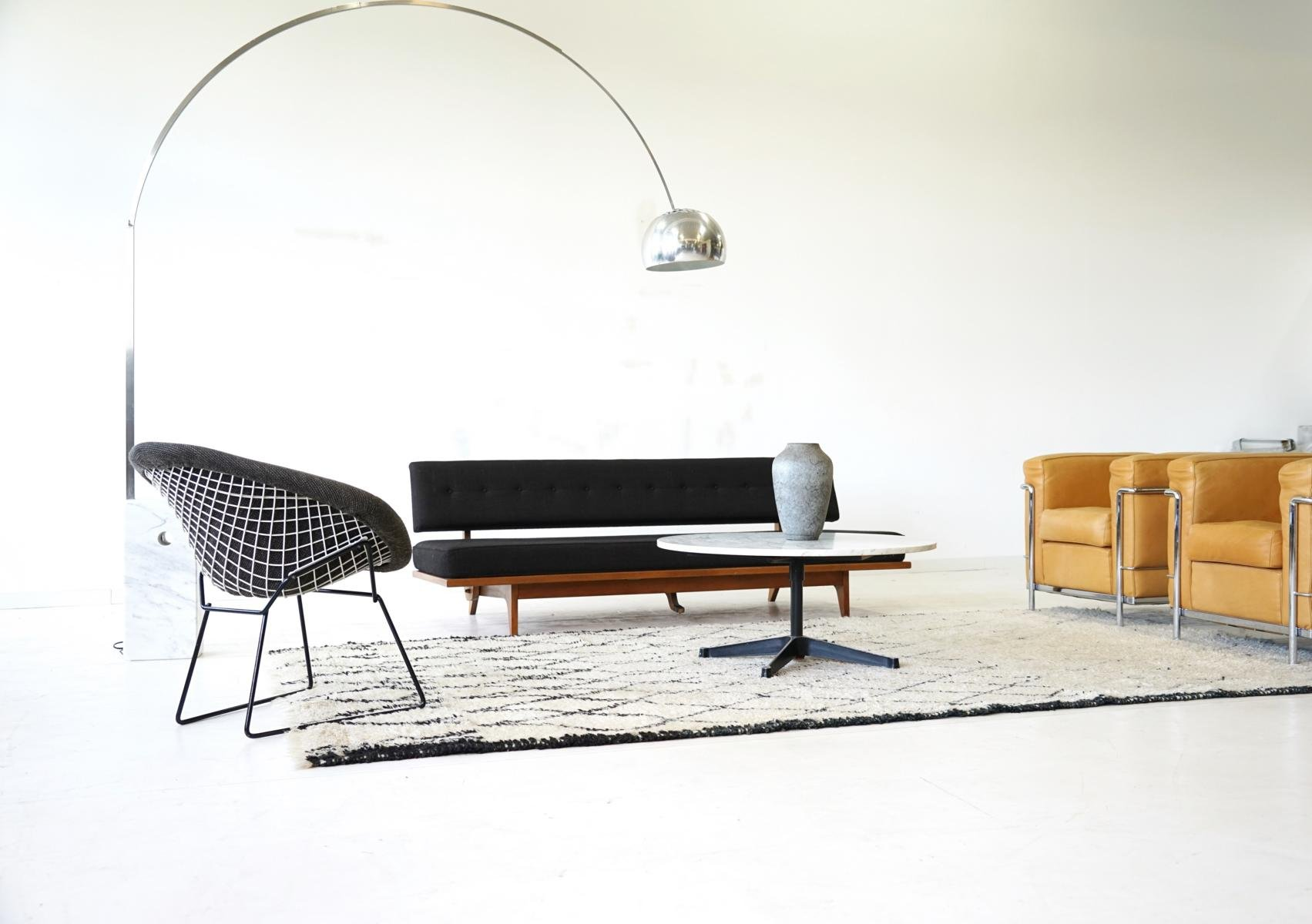 Mid Century Diamond Wire Side Lounge Chair by Harry Bertoia for