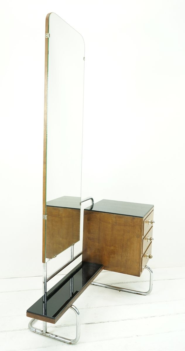 coiffeuse bauhaus en acier tubulaire 1930s en vente sur On acier tubulaire
