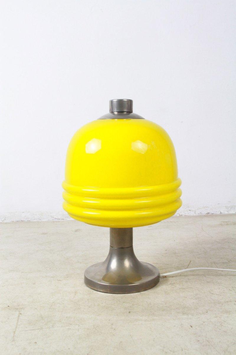 gelbe glas tischlampe 1960er bei pamono kaufen. Black Bedroom Furniture Sets. Home Design Ideas