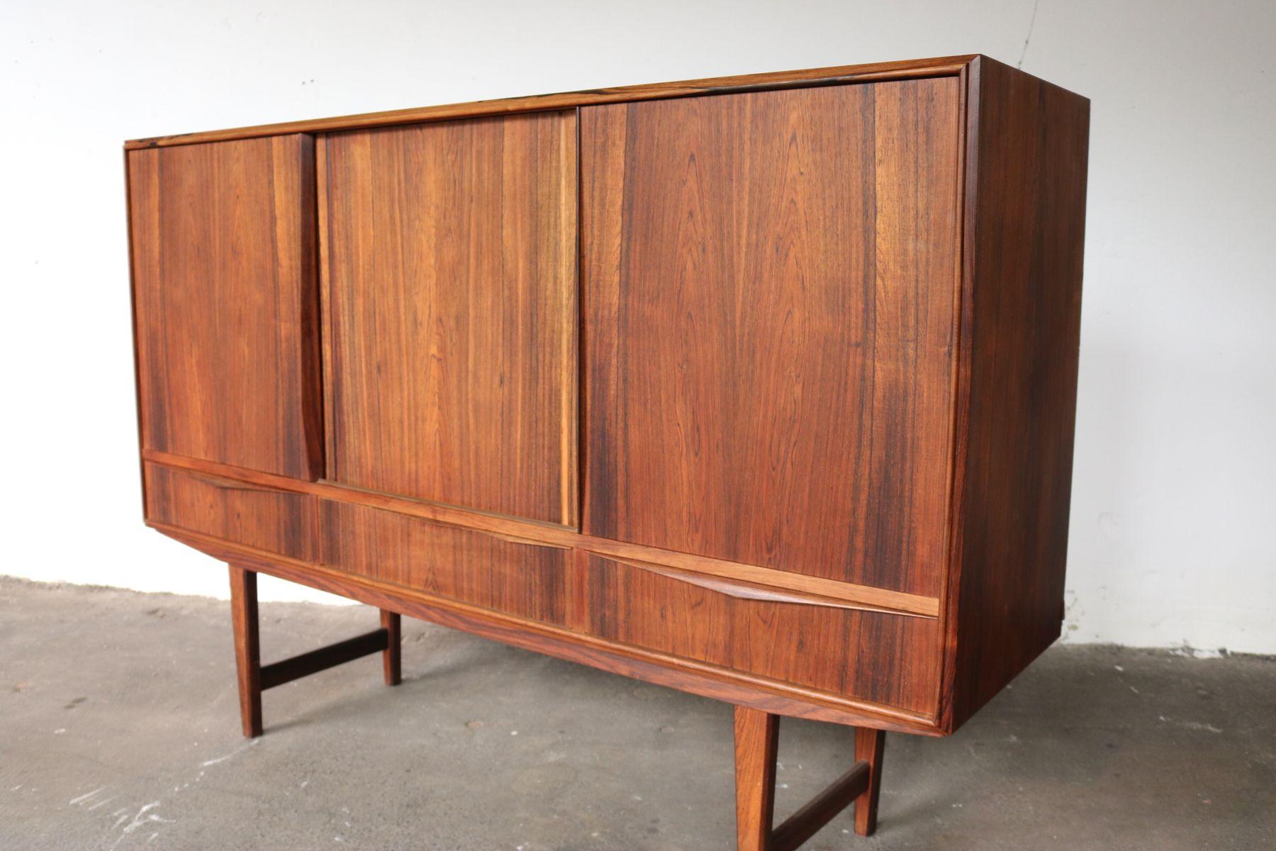 vintage palisander sideboard by e w bach 1960s for sale. Black Bedroom Furniture Sets. Home Design Ideas
