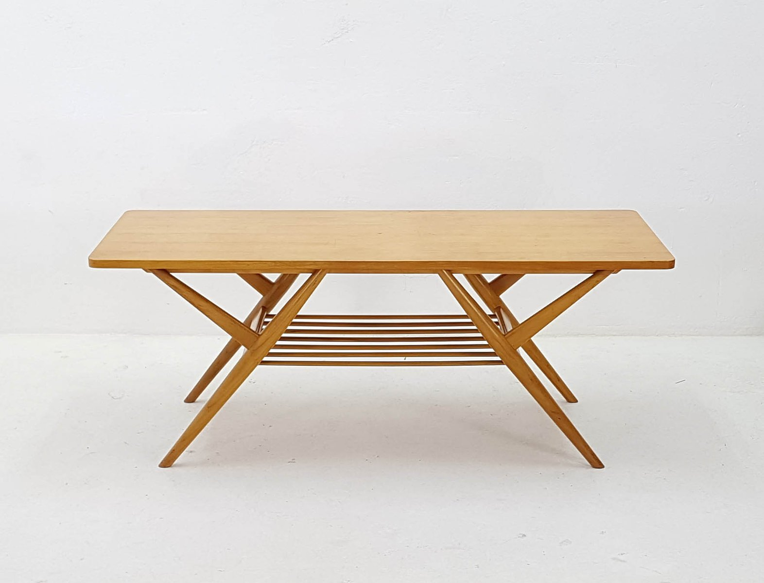 Mid Century Birch Coffee Table For Sale At Pamono