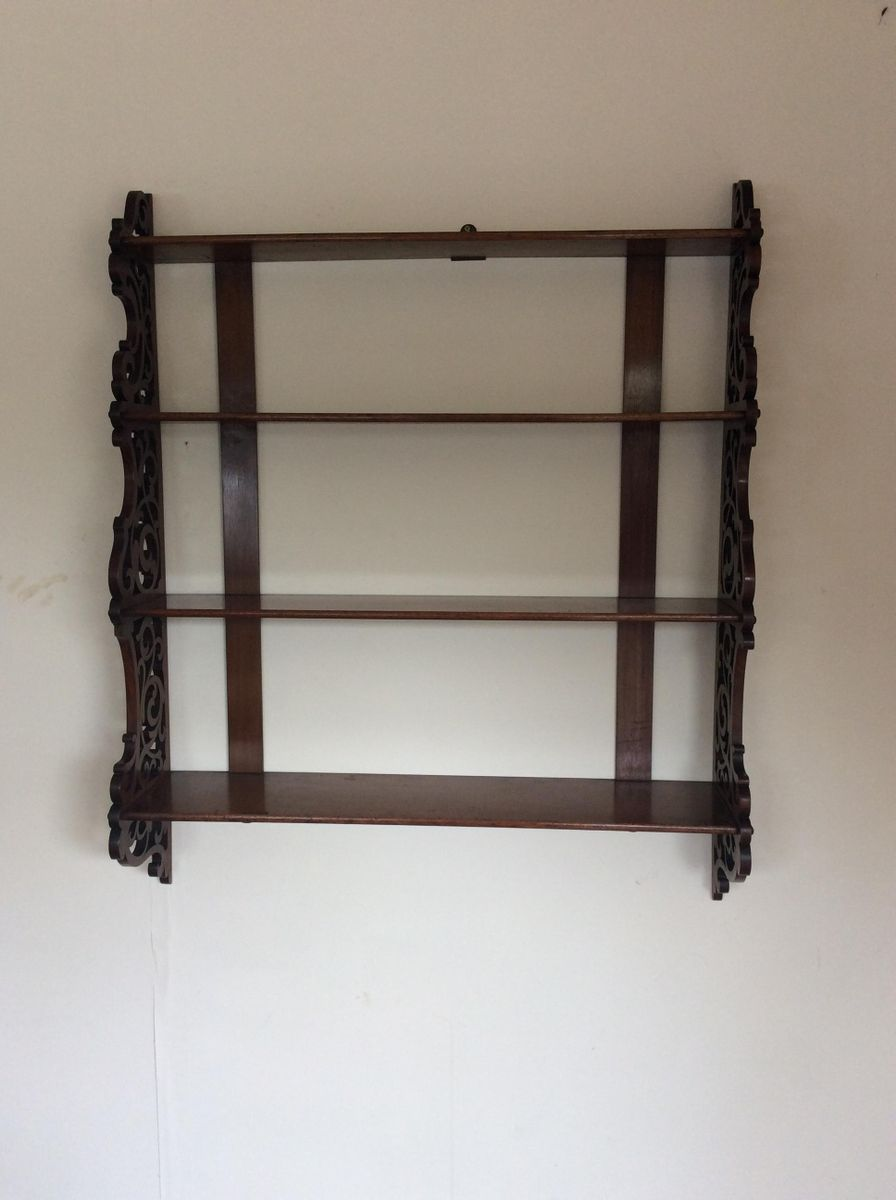 Uncategorized Antique Shelving antique victorian mahogany fretwork wall mounted shelving unit for unit