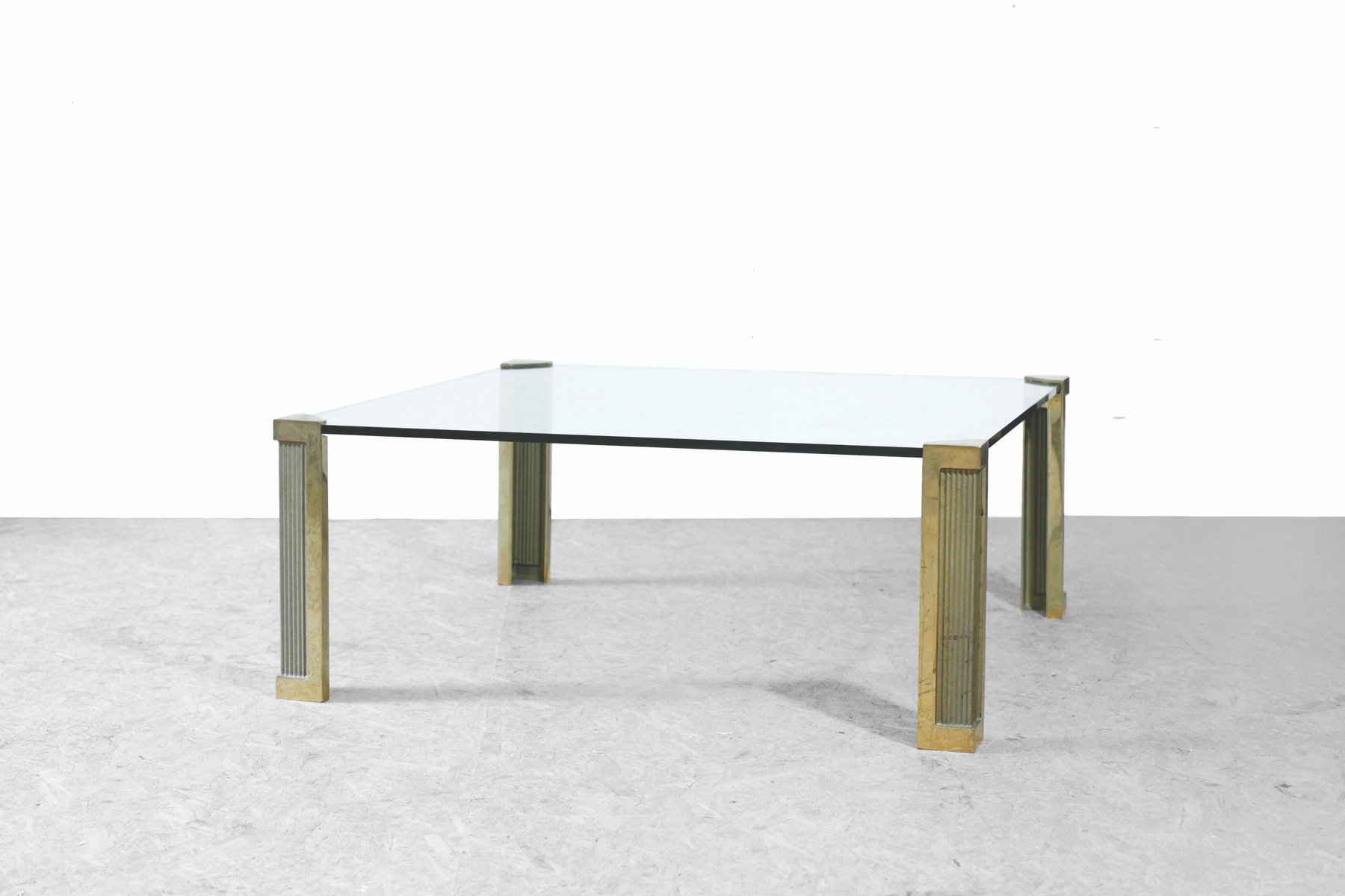 Bronze & Glass Coffee Table by Peter Ghyczy 1970s for sale at Pamono