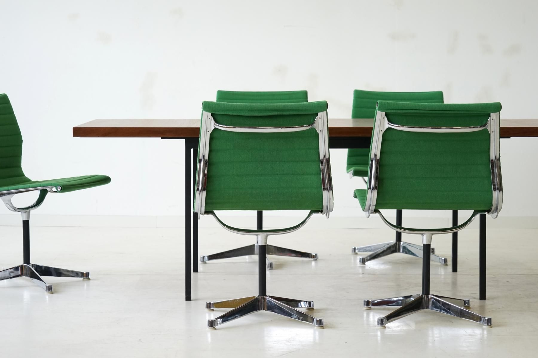 Vintage Aluminum EA 106 fice Chairs by Charles and Ray Eames for