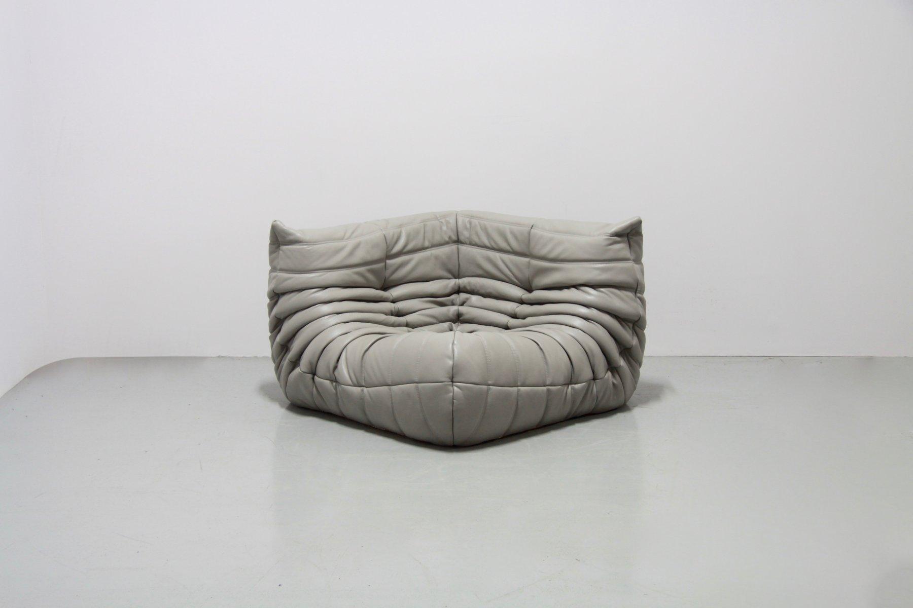 hellgraues togo wohnzimmerset aus grauem leder von michel ducaroy f r ligne roset 1970er bei. Black Bedroom Furniture Sets. Home Design Ideas