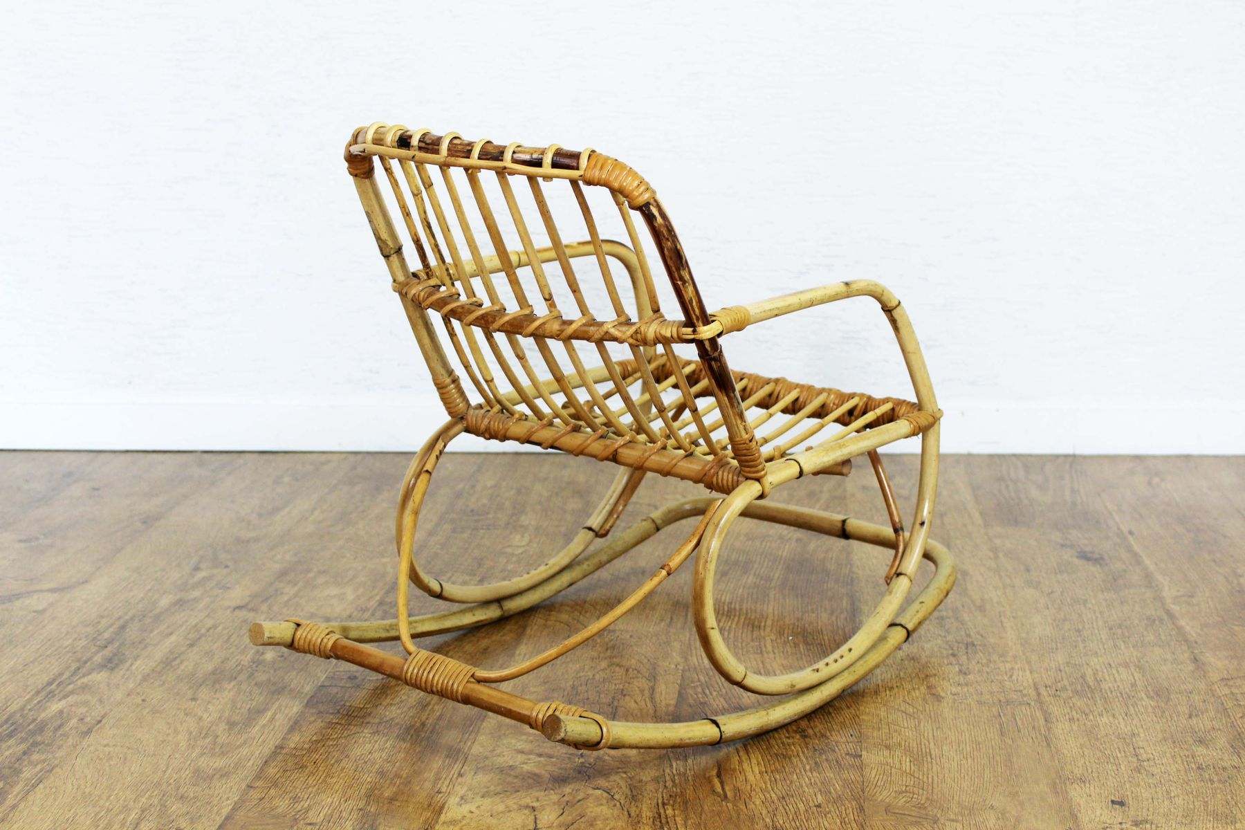 Vintage Rattan Children s Rocking Chair for sale at Pamono