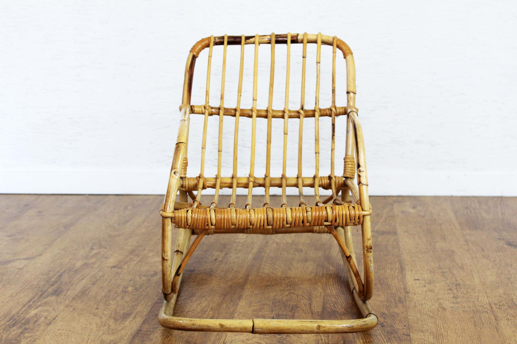 vintage rattan children 39 s rocking chair for sale at pamono. Black Bedroom Furniture Sets. Home Design Ideas