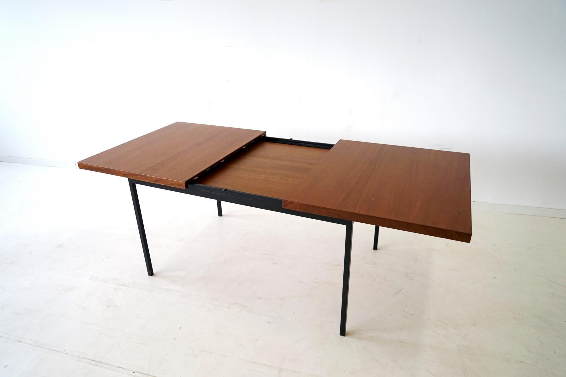 Ausziehbarer vintage modell 413 esstisch von fred ruf f r for Design esstisch x7