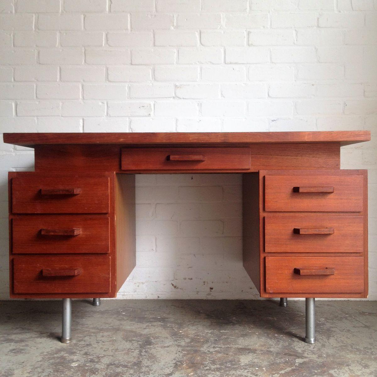 vintage schreibtisch 1950er bei pamono kaufen. Black Bedroom Furniture Sets. Home Design Ideas