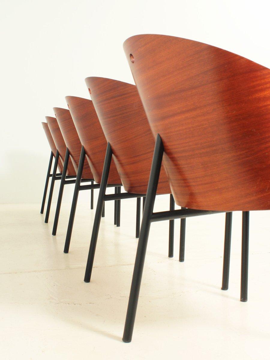 costes st hle von philippe starck f r driade 1980er 6er set bei pamono kaufen. Black Bedroom Furniture Sets. Home Design Ideas