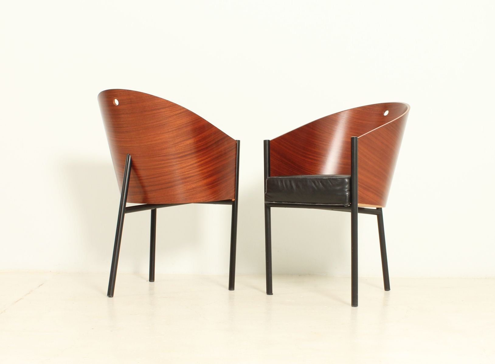 Costes chairs by philippe starck for driade 1980s set of for Starck philippe