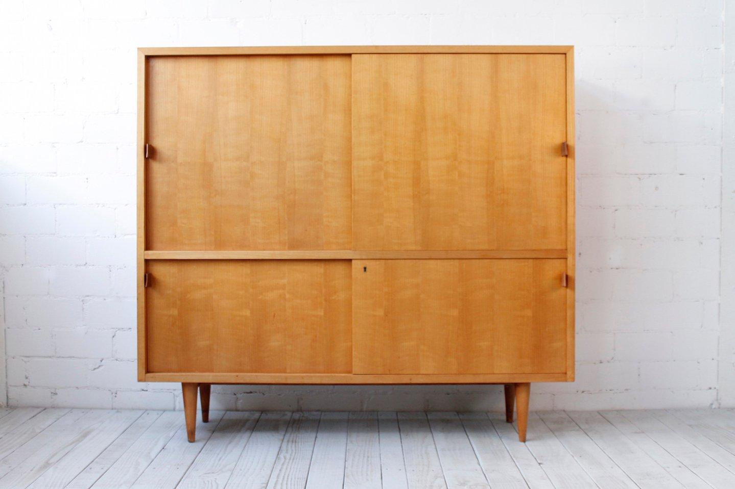 vintage kirschholz highboard von wk m bel 1950er bei. Black Bedroom Furniture Sets. Home Design Ideas