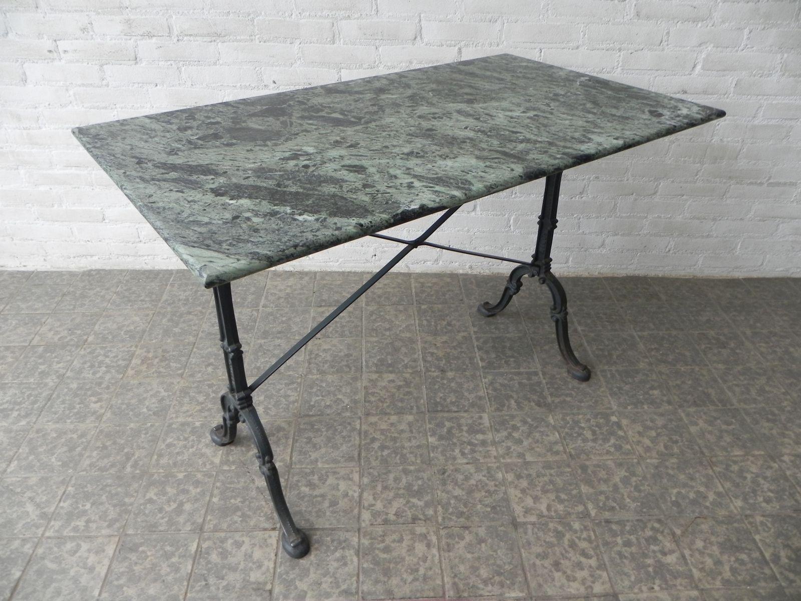 gartentisch mit gusseisenfu marmorplatte von godin bei pamono kaufen. Black Bedroom Furniture Sets. Home Design Ideas