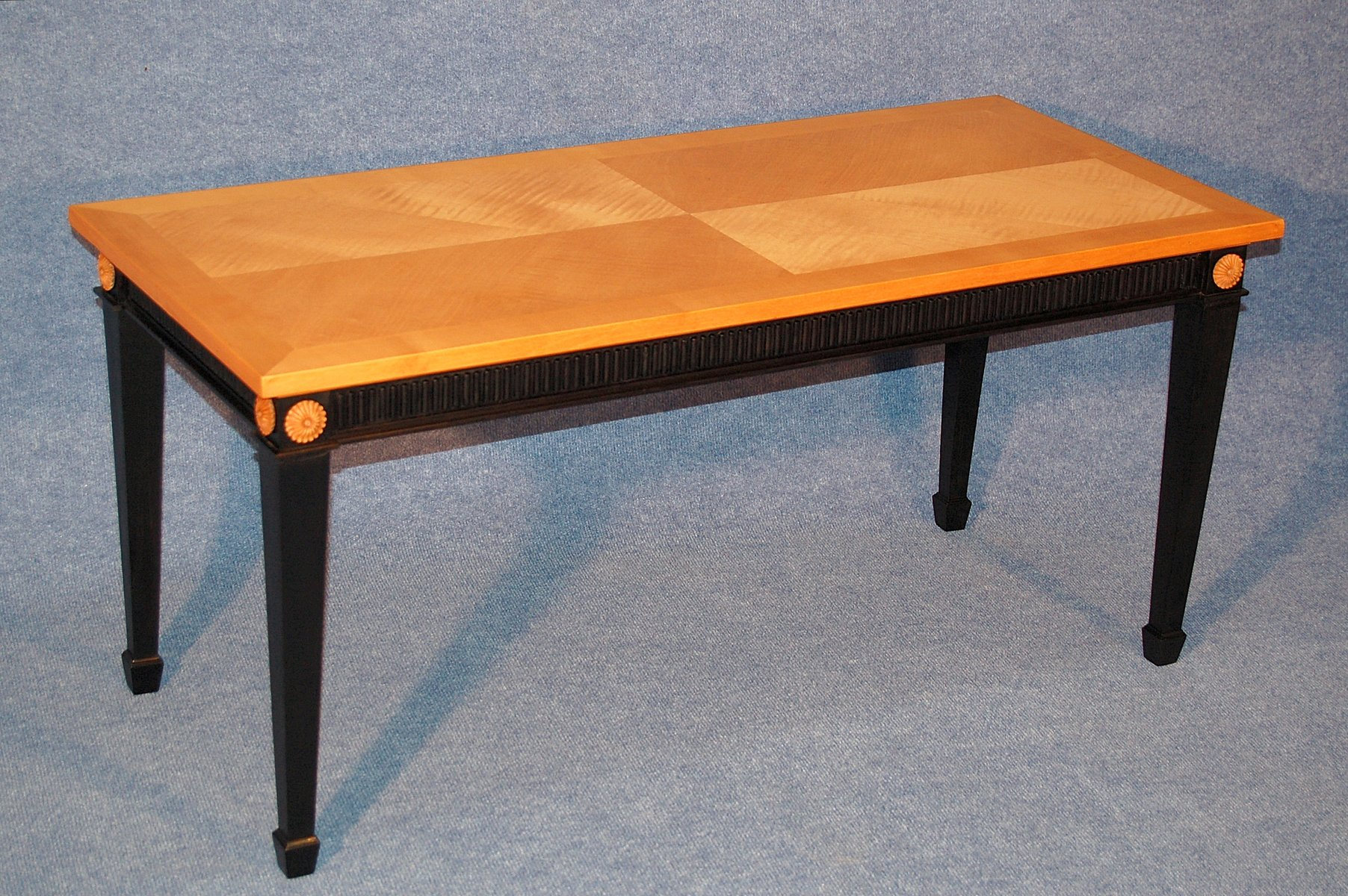 Coffee Table in Sycamore and Black Wood 1940s for sale at Pamono