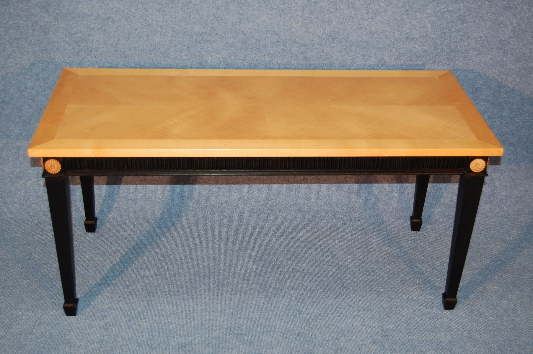 Coffee Table In Sycamore And Black Wood 1940s For Sale At