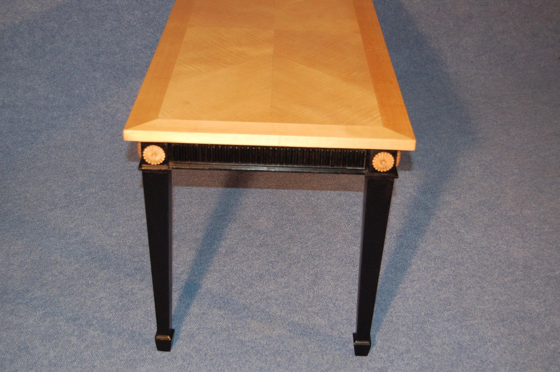 couchtisch aus bergahorn schwarzem holz 1940er bei. Black Bedroom Furniture Sets. Home Design Ideas