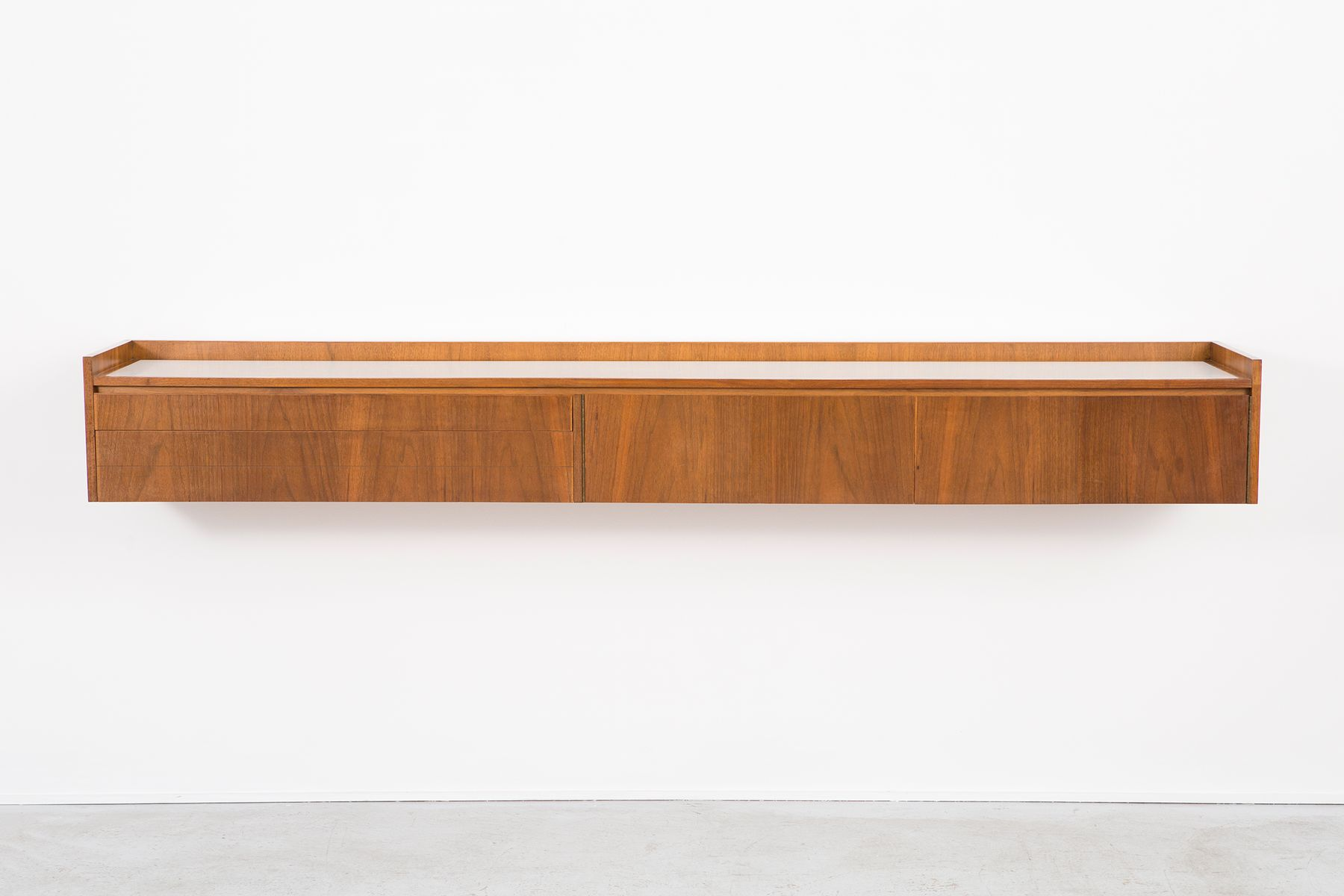 Mid Century Floating Wall Unit by Paul McCobb for Calvin