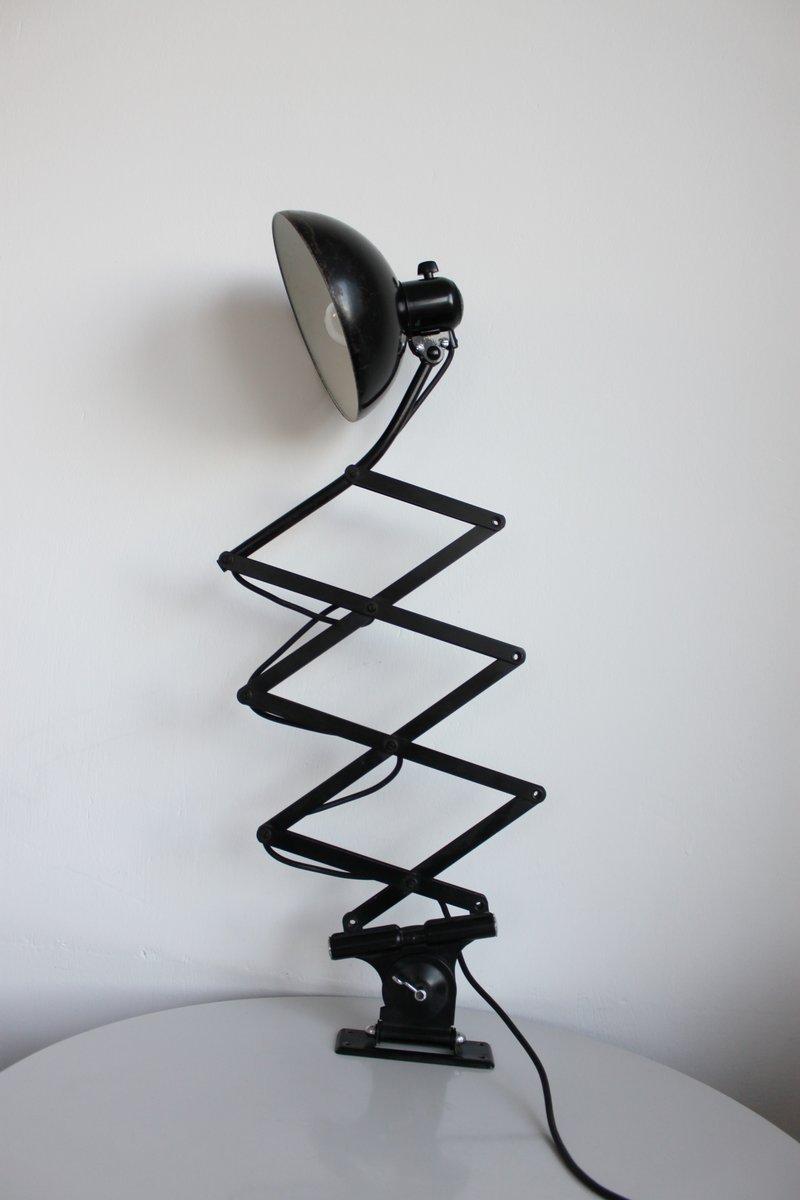 Bauhaus 6614 Scissor Lamp In Black By Christian Dell For