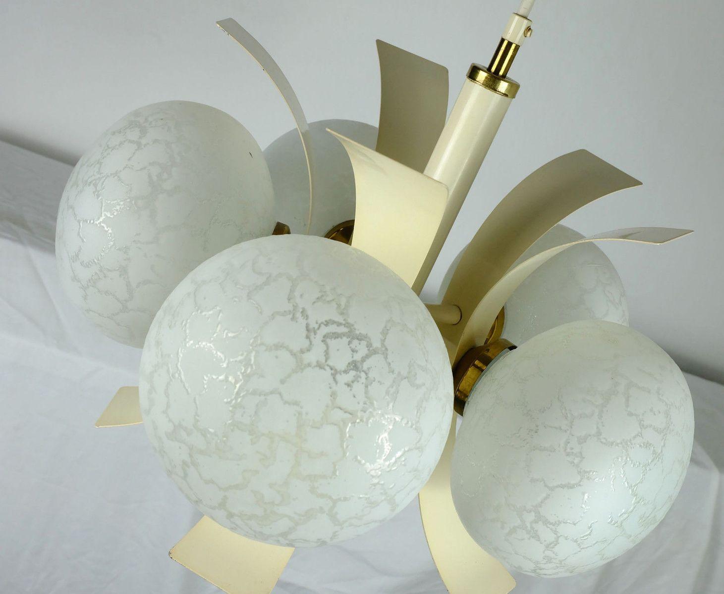 vintage sputnik lampe aus metall glas bei pamono kaufen. Black Bedroom Furniture Sets. Home Design Ideas